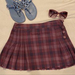 Marc Jacobs Purple Plaid Mini Wrap Skirt
